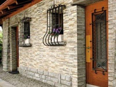 Фасад из бетонной плитки.