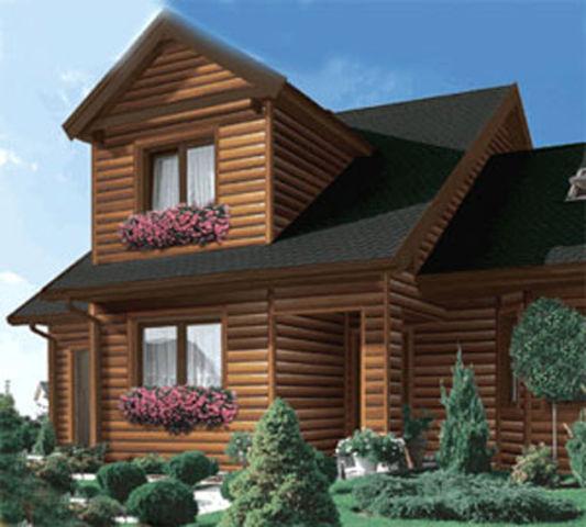 Блок-хаус брус – эффектная отделка фасада