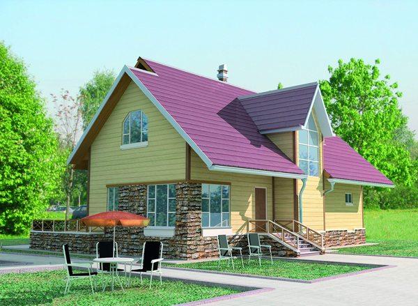 Оригинальное оформление небольшого загородного дома
