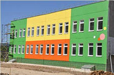 цветовое решение фасада детского сада