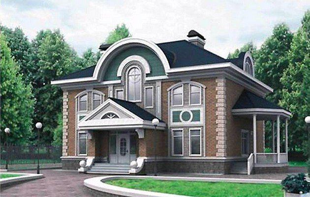 дизайн проект фасада коттеджа