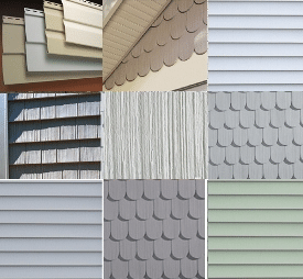Некоторые разновидности текстур и форм сайдинга от Tecos