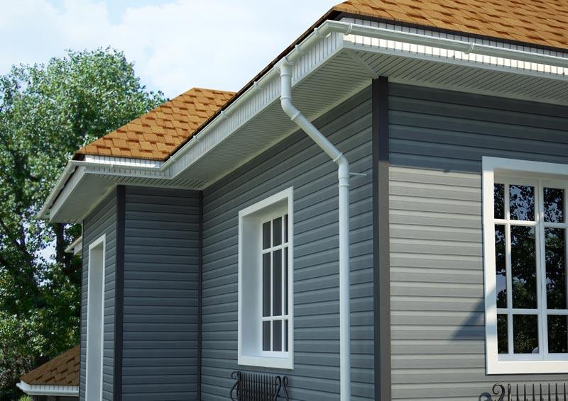 Фасад дома должен быть прост, не обременен множеством лишних элементов