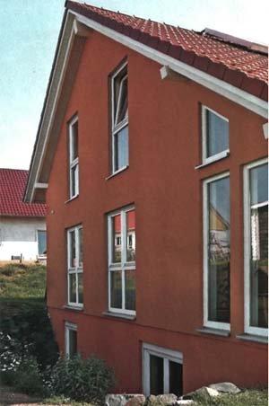 Фасад дома окрашенного перхлорвиниловой краской