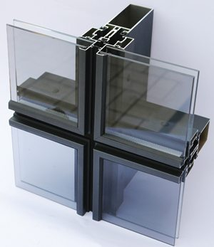 Алюминиевые элементы каркаса для фасадного остекления