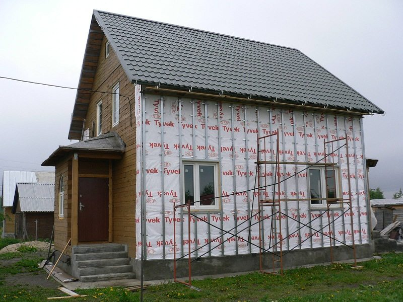 Фасад под сайдинг с утеплением и защитной пленкой