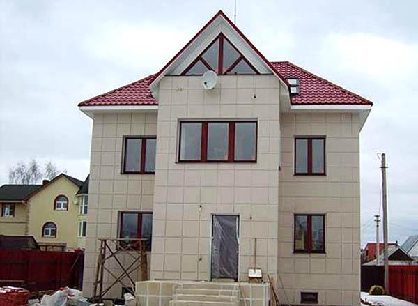 фасад загородного дома