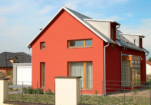 Окрашенный фасад коттеджа