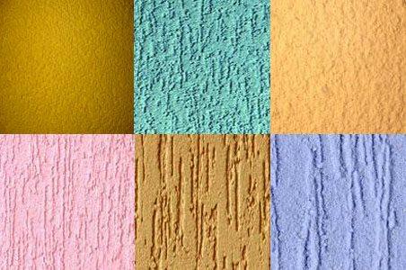 Штукатурка Церезит «короед» в различных цветовых и фактурных вариациях