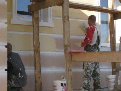 Оштукатуривание здания с применением материалов системы Церезит