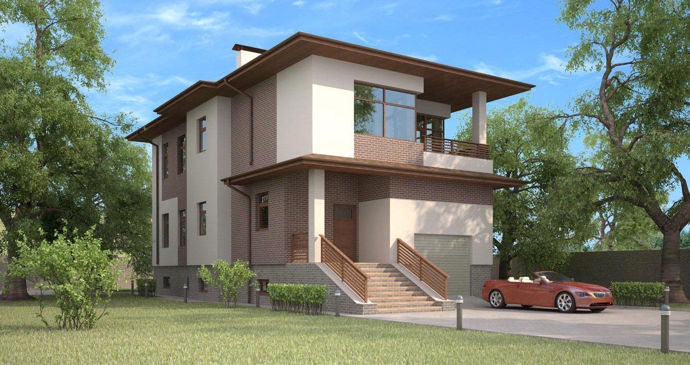 фасады домов в стиле модерн