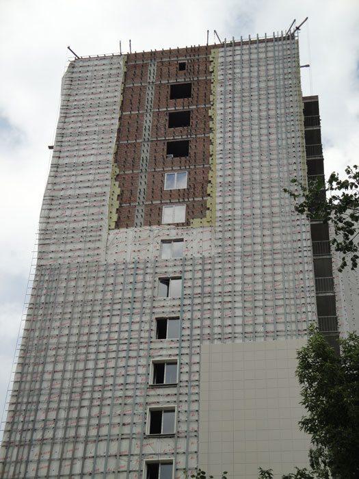 фасады многоэтажных жилых домов