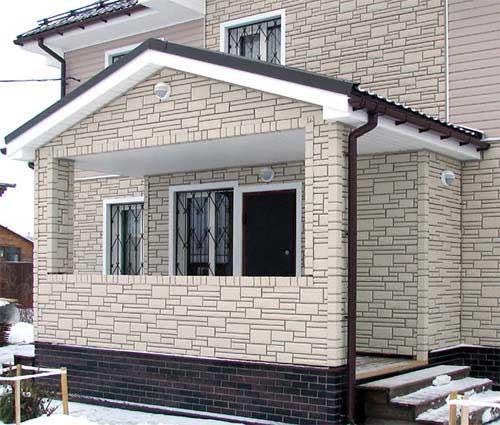 Вариант отделки фасада