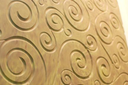 Декоративная фасадная панель из полимербетона