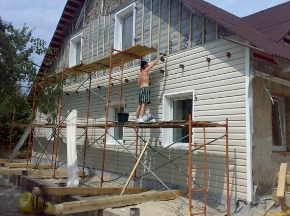 Реконструкция вентилируемого фасада частного дома