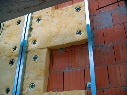 Монтаж утепления фасада