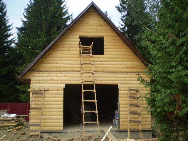 Обшивка деревянным Блок-Хаусом