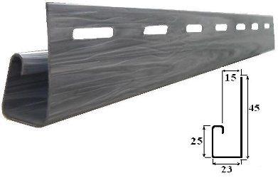 J-профиль одновременно послужит декоративным обрамлением потолка