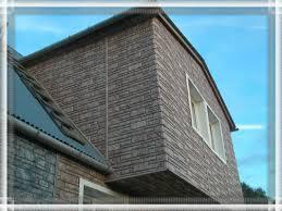 Каменный сайдинг широко применяется в облицовке домов