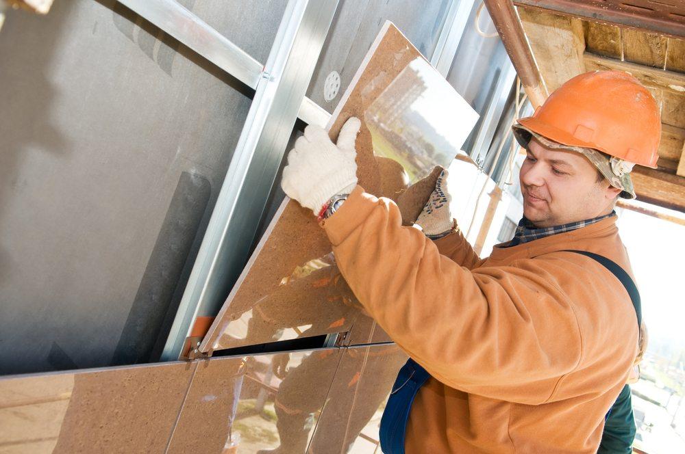Установки керамогранитной плиты на несущую конструкцию вентилируемого фасада