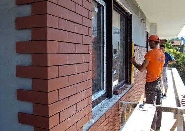 Облицовочная клинкерная плитка для фасадов - монтаж
