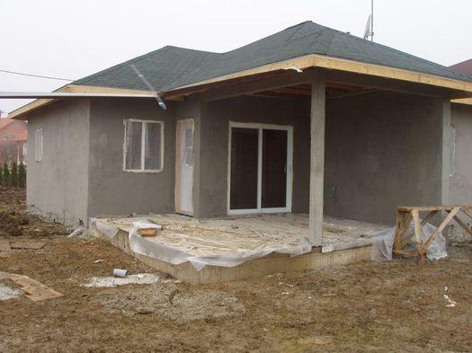 Начало процесса отделки фасада