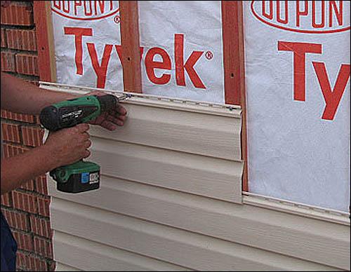 Монтаж панелей облицовки на деревянный каркас