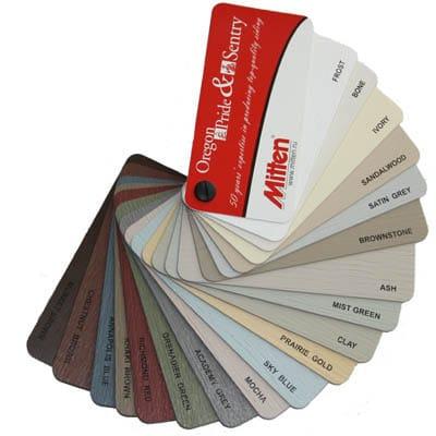 На данном фото показана цветовая гамма от компании Миттен