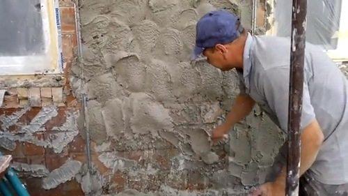 нанесение шубы на фасад