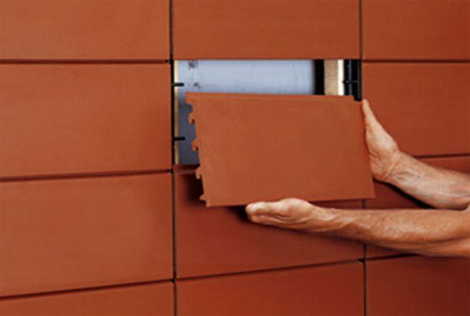 Керамическая фасадная плитка под кирпич