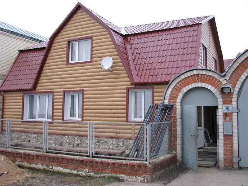Облицовка дома Блок Хаусом из металла