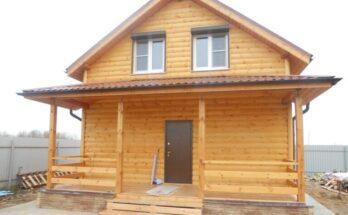 облицовка дома деревянным блок хаусом