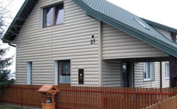 Облицовка дома панелями «Блок Хаус»