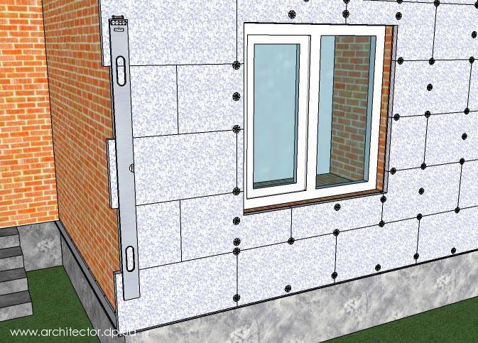 Утепление фасадов пенополистиролом по правильной технологии
