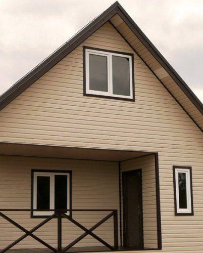 Облицовка фасадов дома сайдингом