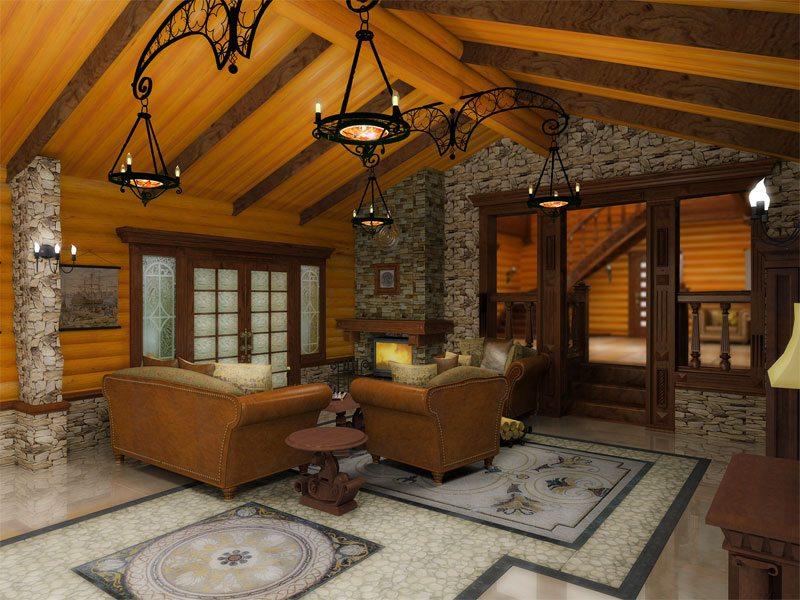 Блокхаус можно устанавливать не только на стены, но и на потолок