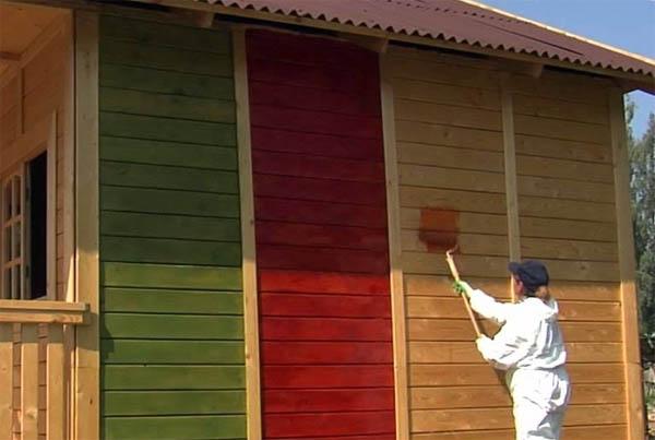окраска фасада дома