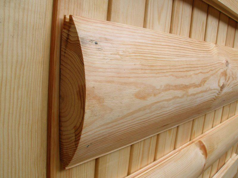 Крепление материала к деревянным стенам – интересный вариант дизайна