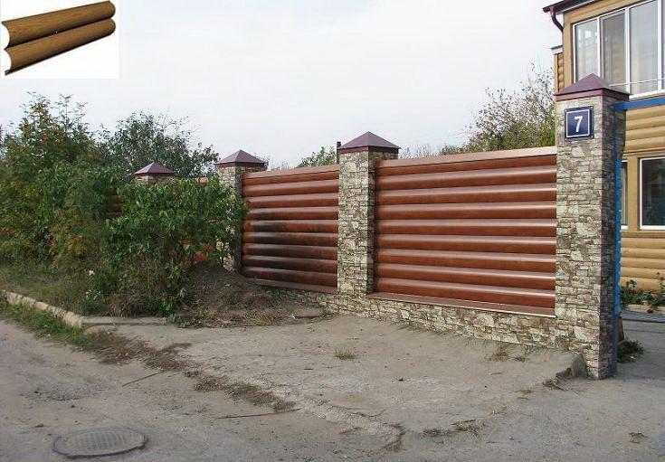 отделка дома металлосайдингом под бревно