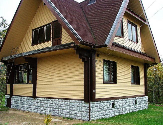 Отделка фасада деревянного дома своими руками 850