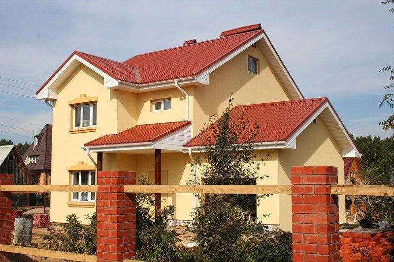 отделка фасадов домов из пеноблоков