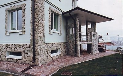 дома отделка камнем фото