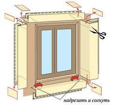 Технология отделки откосов окна