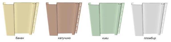 Цветовые варианты вертикального винилового сайдинга Docke TREND.