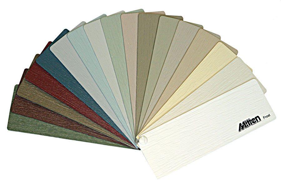 Богатые цвета: сайдинг миттен представлен 33 вариантами (бежевый, коричневый, брусничный с многочисленными их оттенками).