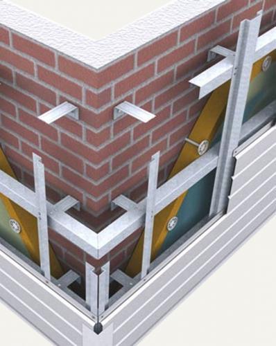 Схема креплений алюминиевых профилей для установки винилового сайдинга