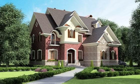 Сочетание цвета крыши и фасада