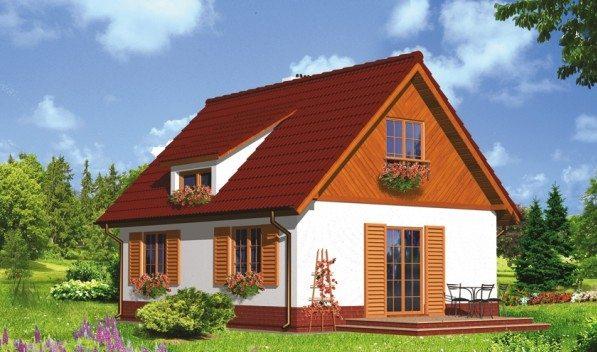 Пример контраста - красная крыша на фоне голубого неба