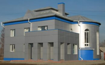 Панели из металла при оформлении здания в стиле «хай-тэк»