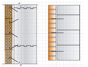 Схема крепления каменной облицовки дома к перекрытию